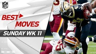 Best Moves from Sunday: Jukes, Spins, Stiff Arms & More! | NFL Week 11 Highlights