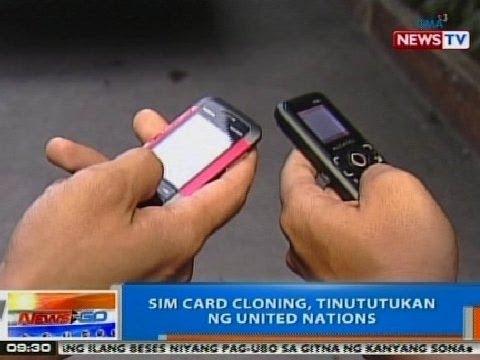 NTG: SIM card cloning, tinututukan ng United Nations