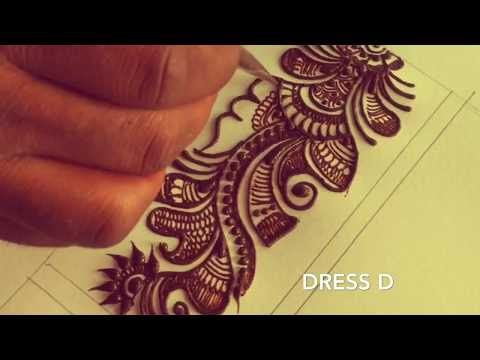 Learn long Arabic mehndi design step by step | mehndi for wrist / palm / full hand