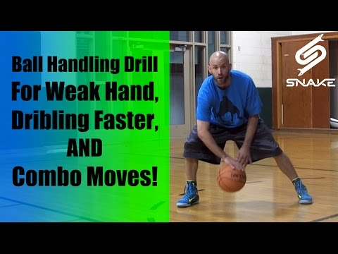 Basketball Drills & Dribbling Drills Best How To Improve Handles: Weak Hand Moves Point Guards Kids