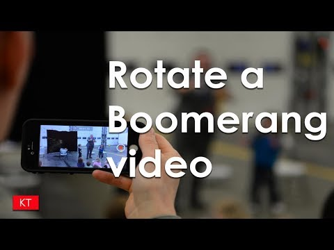 How to rotate a boomerang video on iPhone