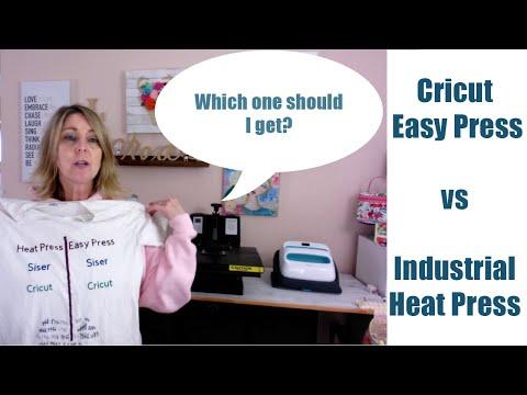 Cricut Easy Press vs Industrial Heat Press - The RESULTS ARE IN!