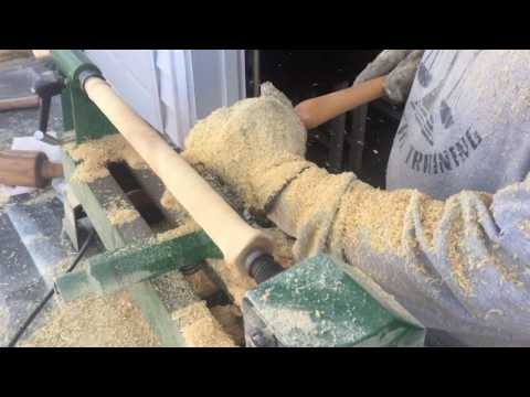 Wood Turning | Turning a Paper Towel Holder | Turn Wood Cheap!