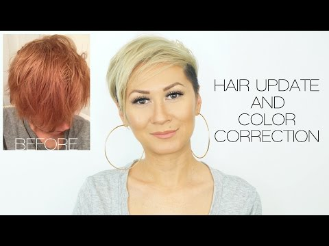 HAIR UPDATE & COLOR CORRECTION (reddish orange to blonde)