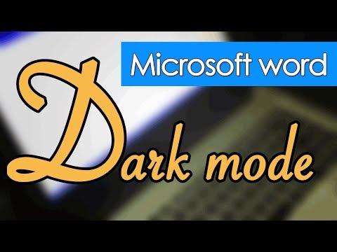 microsoft word dark mode and microsoft office dark mode