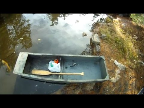 Fishing backwoods Whitefish out of an 8 foot homemade boat!