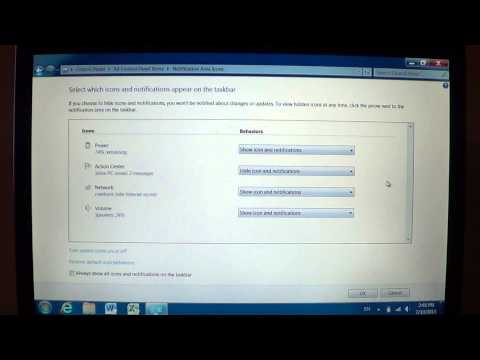 Windows 7   Notifications area options