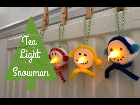 Tea Light Snowman Christmas Ornament |#25DaysofOrnaments | Christmas Project 2017