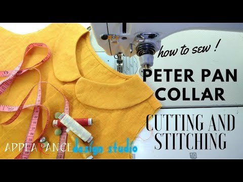 how to sew peter pan collar cutting and stitching easy