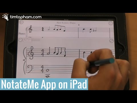 NotateMe for iPad demonstration - timtopham.com