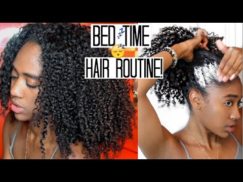 Nighttime Hair Routine|+Growth Tip for Long + Healthy Natural Hair 🙌