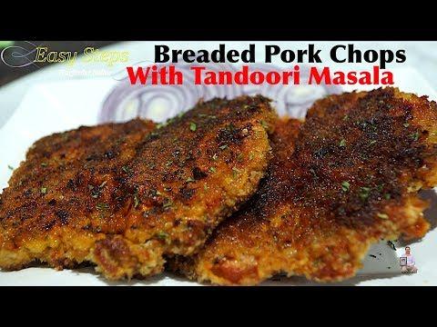 Pan Fried Breaded Pork Loin Chops with Tandoori Masala