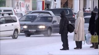 Walking in Yakutsk - Oymyakon, Siberia, Yakutia, Russia at –50C (December 2014)