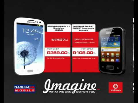 Samsung Galaxy SIII and Samsung Galaxy Pocket smartphones on special at Nashua Mobile