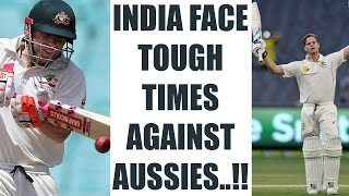 India vs Australia 4th Test : Steve Smith, David Warner make bolwers toil at Lunch | Oneindia News