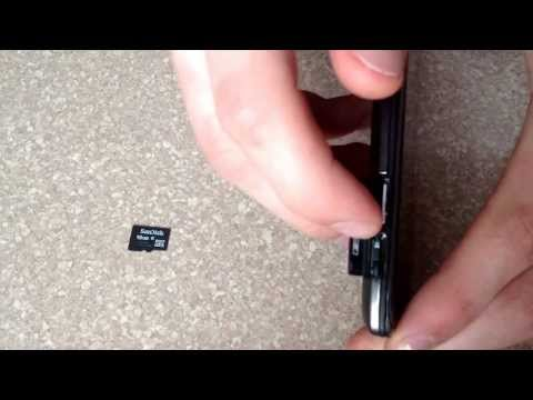 Insert / eject a SD memory card into a Motorola droid Razr