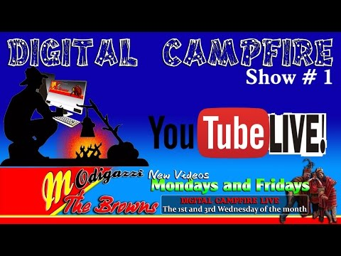 Digital Campfire #1 Youtube live Broadcast. Hosted by Charlie Brown With Special Guests