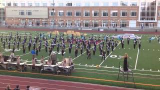 2015 Newtown High School Marching Band and Color Guard at Brien McMahon