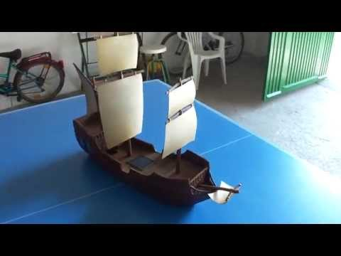 Cardboard fantasy ship - 28mm scale - Warhammer Scenery