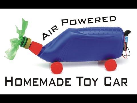 How To Make a Car, Air Powered Car, Electric Dc Motor Car