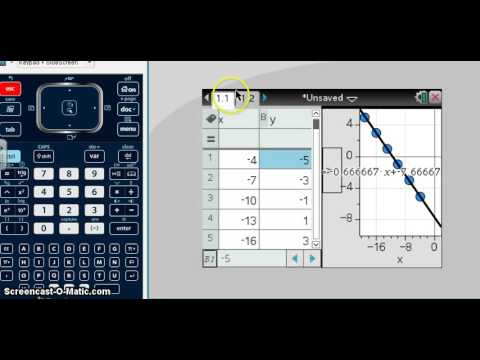 finding slope using ti nspire