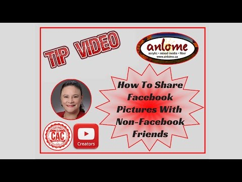 How to Share Facebook Pictures/Albums With Non-Facebook Friends and Family