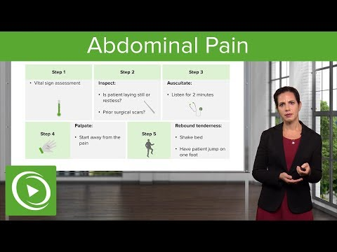 Abdominal Pain: Signs, Examination & Diagnosis – Emergency Medicine   Lecturio