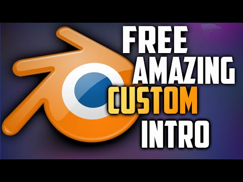 How To Make A Custom Intro In Blender 2015!!