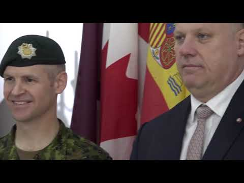 National Military Representative Visit to eFP Latvia