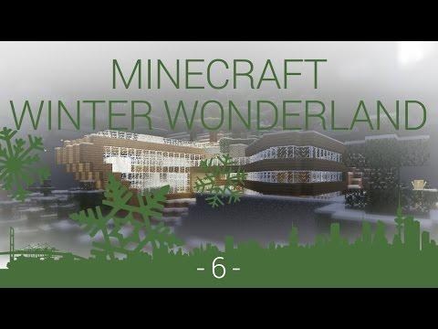 Minecraft Winter Wonderland - EP 6 - finished exterior and modern kitchen build