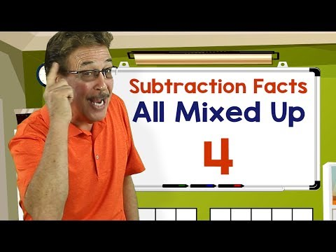 Subtraction Facts All Mixed Up 4 | Math Songs for Kids | Jack Hartmann