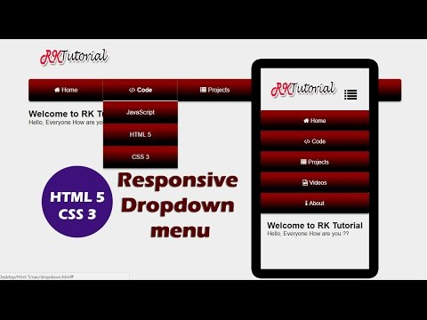 HTML 5 CSS 3 Responsive Drop down menu