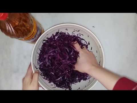 Lahana Turşusu Tarifi/Квашеная капуста по турецки/Red Cabbage Sauerkraut (turkish recipe)