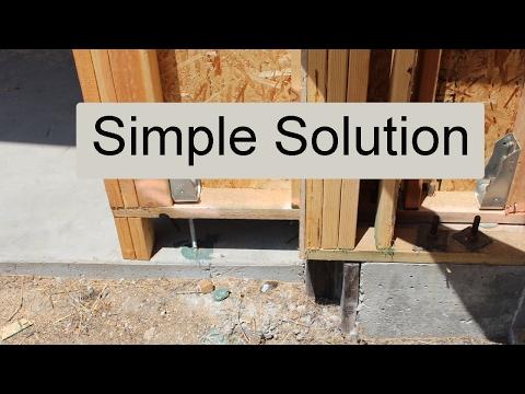Extending The Garage Door Header Can Solve Concrete Footing Location Problems