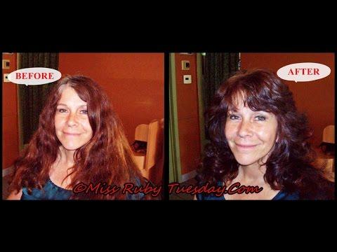 Miss Ruby Tuesday- Giving The Farrah Fawcett Haircut On One Length Hair