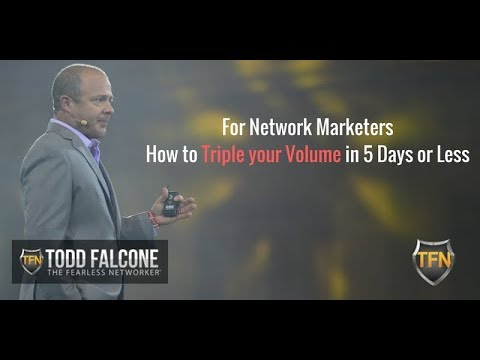 How to Triple Your Volume in Five Days or Less