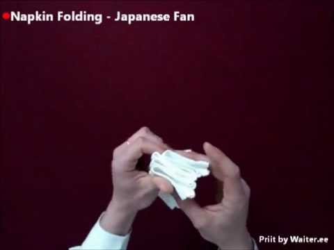 Napkin folding - Japanese Fan