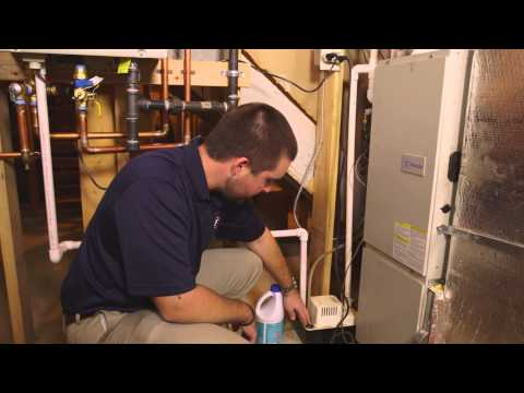 Maintaining a condensate pump.