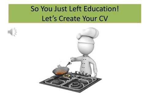 Graduates - How to Improve your CV