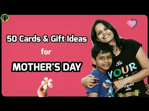 50 Cards and Gift Ideas for Mothers day - DIY Tutorial - 909