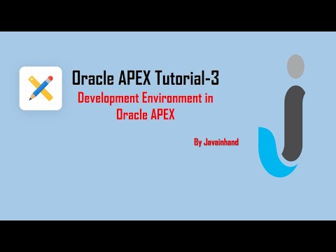 Oracle Apex 5.1(3)- Oracle Application Express  5.1 Development Environment in hindi( By JavaInHand)