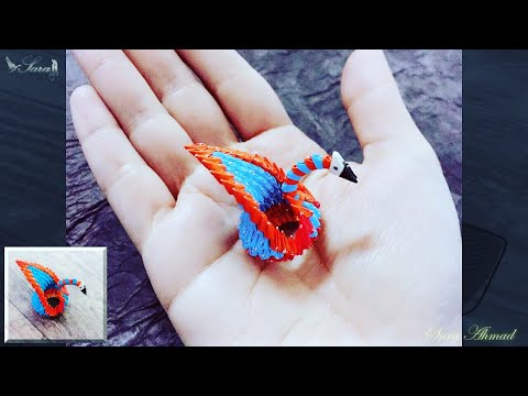 How to make 3d origami small swan