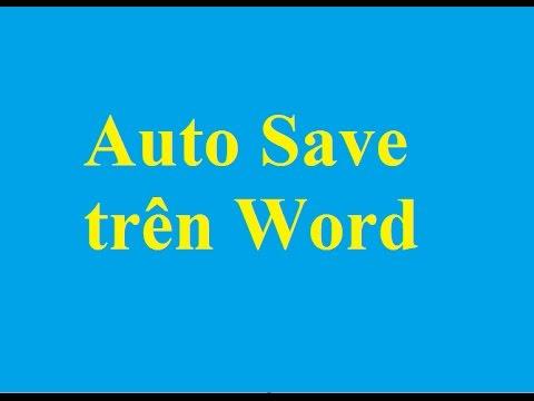 Tự động lưu văn bản khi đang soạn thảo trên Word - http://taimienphi.vn