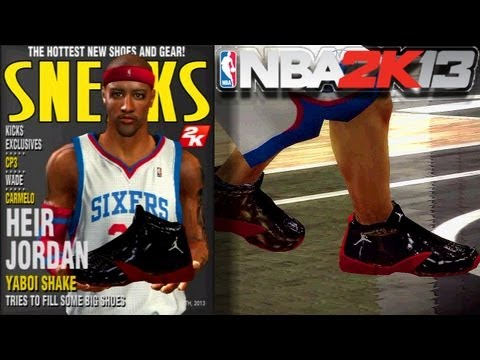 NBA 2K13: MY NEW SNEAKERS, CREATION & COMMERCIAL | (Bonus Gameplay)