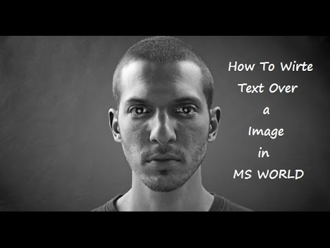 how to write text over a image in MS Word
