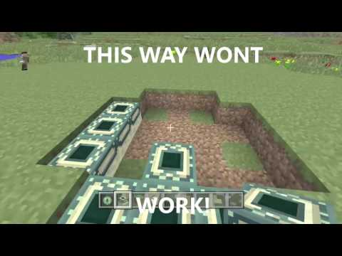 Minecraft Tutorial: HOW TO BUILD END PORTAL  | Minecraft Xbox One Edition