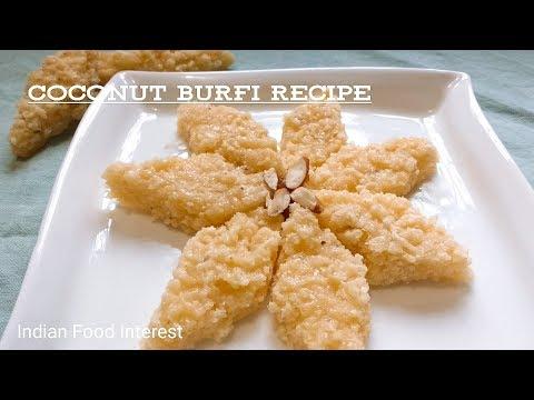 Coconut Burfi with gram flour recipe || Traditional coconut sweet from coastal regions
