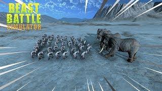 GORILAS VS ELEFANTES - Beast Battle Simulator.