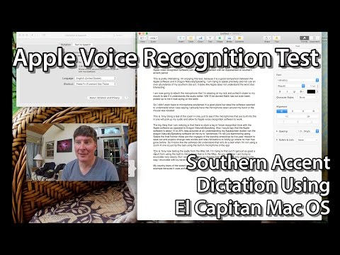 Apple Voice Recognition Software Test - El Capitan OS
