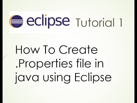 How to create .properties file in java using eclipse